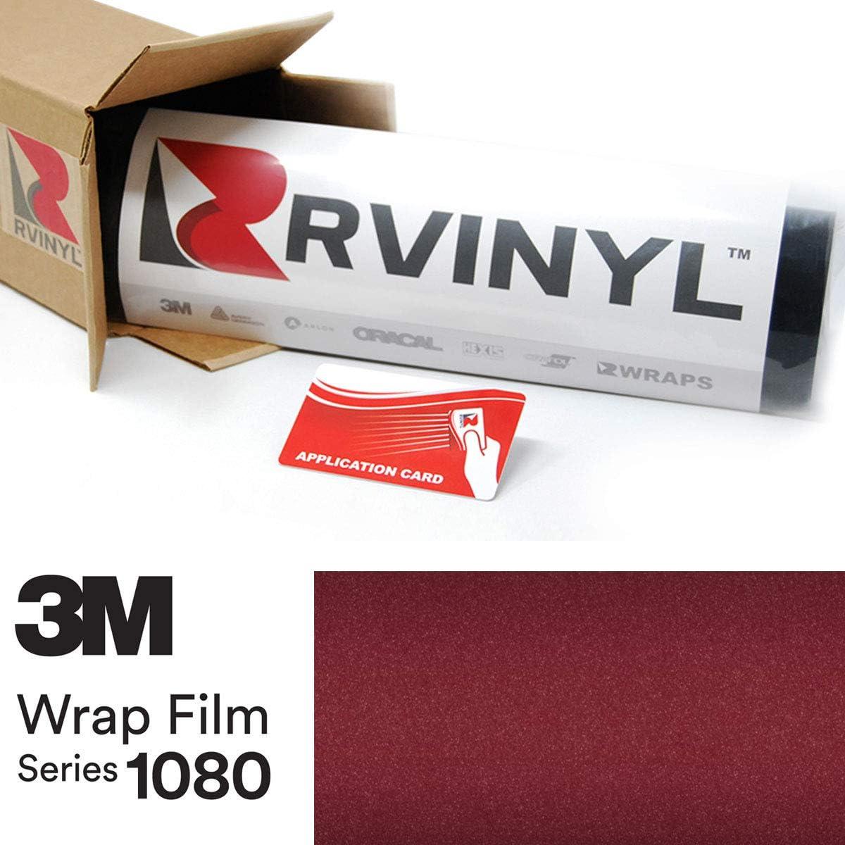 3M 1080 GP99 Gloss Black Rose 5ft x 1ft W/Application Card Vinyl Vehicle Car Wrap Film Sheet Roll