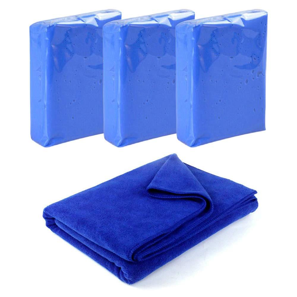 HMMJ 3 Pack 100g Car Clay Bar + 1 Pack Towel Auto Detailing Magic Clay Bar Cleaner for Car Wash Car Detailing Clean