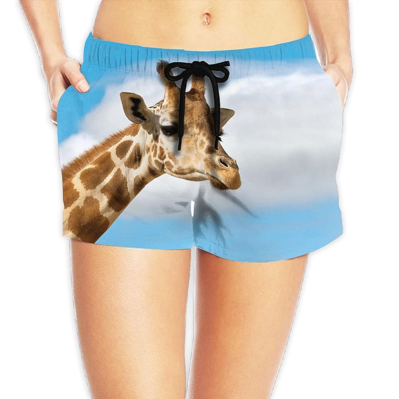 Cheap Coco Popcorn Women's Animals Hero Giraffe Boardshorts Shorts Surf Pants With Pockets for cheap