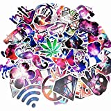 77 PCS Graffiti Decals Vinyls Stickers For Laptops Helmet Skateboard Bike Luggage Computer Phone Motorcycle Bicycle Cars Waterproof Sunlight-Proof DIY Ideals Assorted Cool Stickers