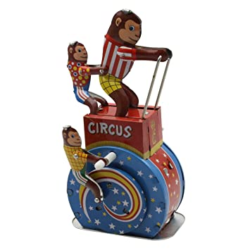 di ° in lattina di circo latta latta scimmie Superfreak® animali un ° di giocattoli Realizzato PiwkTOZXu