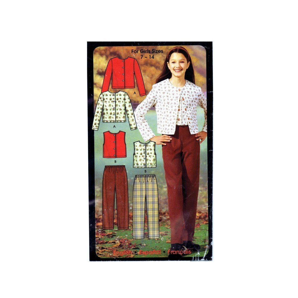 Amazon.com: Simplicity 5869 Sewing Pattern Girls Pants Knit Tops Size 7 - 8 - 10 - 12 - 14: Arts, Crafts & Sewing