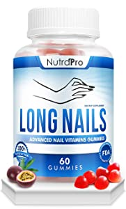Nail Growth Vitamins for Stronger Nail - No More Chipped Nails.Nail Strengthener And Growth Supplement Gummies – Grow Strong Nails.Nail Hardner With Collagen And Biotin.