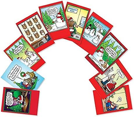 Papá Noel Yoga Navidad broma tarjeta: Amazon.es: Oficina y ...
