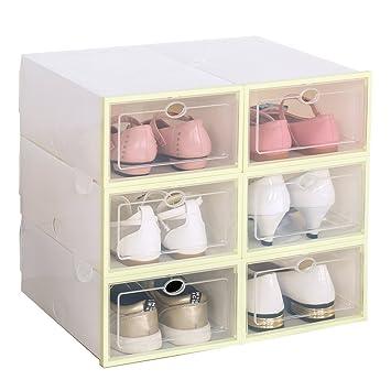 Caja de zapatos, organizador de zapatos, con puerta transparente: Amazon.es: Juguetes y juegos