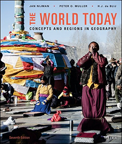 The World Today: Concepts and Regions in Geography 7e Binder Ready Version + WileyPLUS Learning Space Registration Card