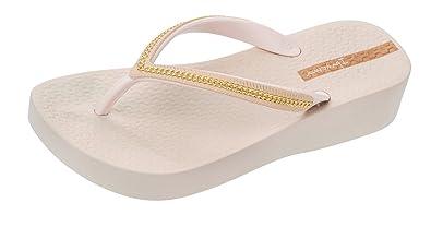 86292f2d5 Ipanema Womens Flip Flops Mesh Wedge Beach Sandals-Ivory-5