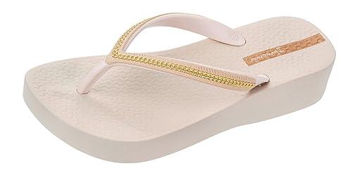 Ipanema Women's Mesh Wedge Sandals US9 Cream Ivory