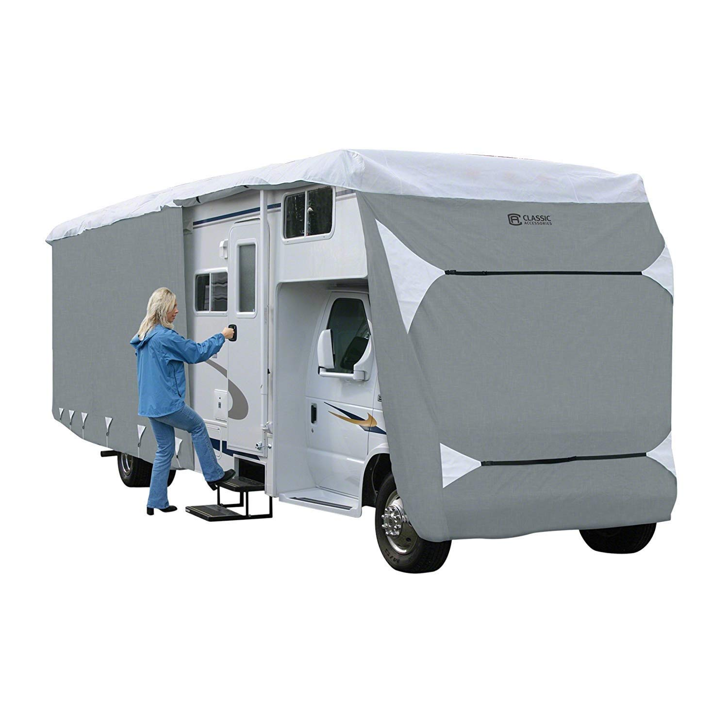 Classic Accessories OverDrive PolyPro 3 Deluxe Class C RV Cover, Fits 32' - 35' RVs by Classic Accessories