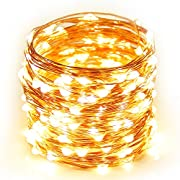 Amazon Lightning Deal 95% claimed: String Lights Copper Wire, Addlon 16ft 50LED Starry String Lights Battery Powered Rope Lights Copper Wire String Lights for Christmas Wedding Home Indoor Outdoor Decorating (Warm White)