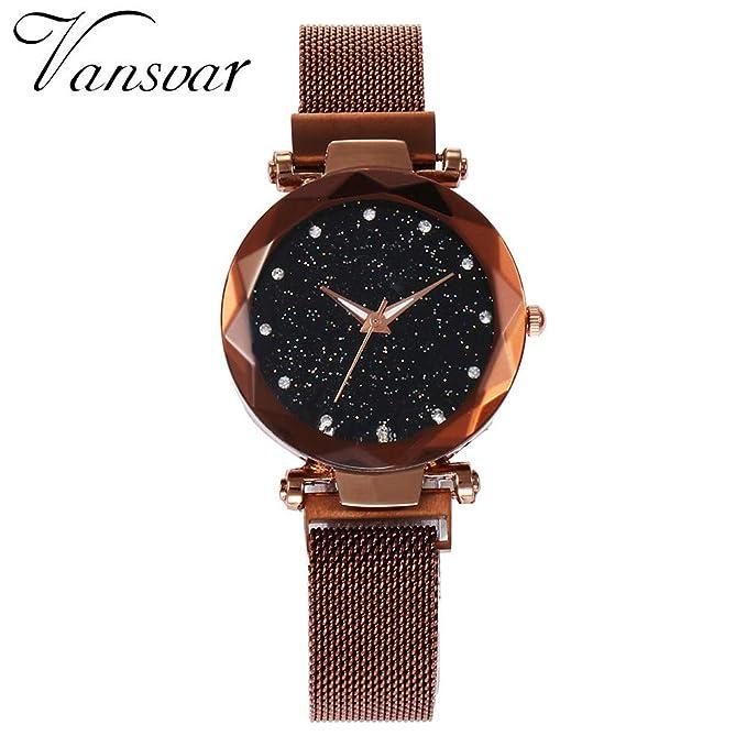 Darringls_Reloj V416 vansvar,Cristal Acero Inoxidable Reloj de Pulsera de Cuarzo Reloj de Pulsera analógico Reloj Casual analógico Relojes Pulsera Relojes: ...