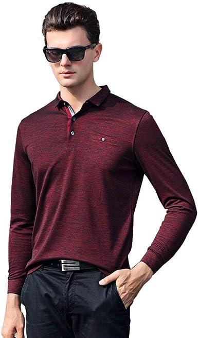Hzf Camisa De Algodón O Polo Hombres De Hombres Invierno Camiseta para Mode De Marca Hombre Solapa Cabeza Caballero Business Suite Camisetas De Manga Larga: Amazon.es: Ropa y accesorios