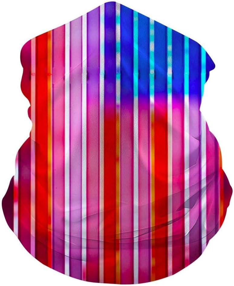 Mamihong American Flag Neon Lamp Bandanas Medianas para mascarilla para el Polvo, Sports Casual Headwear Seamless Neck Gaiter, Headwrap