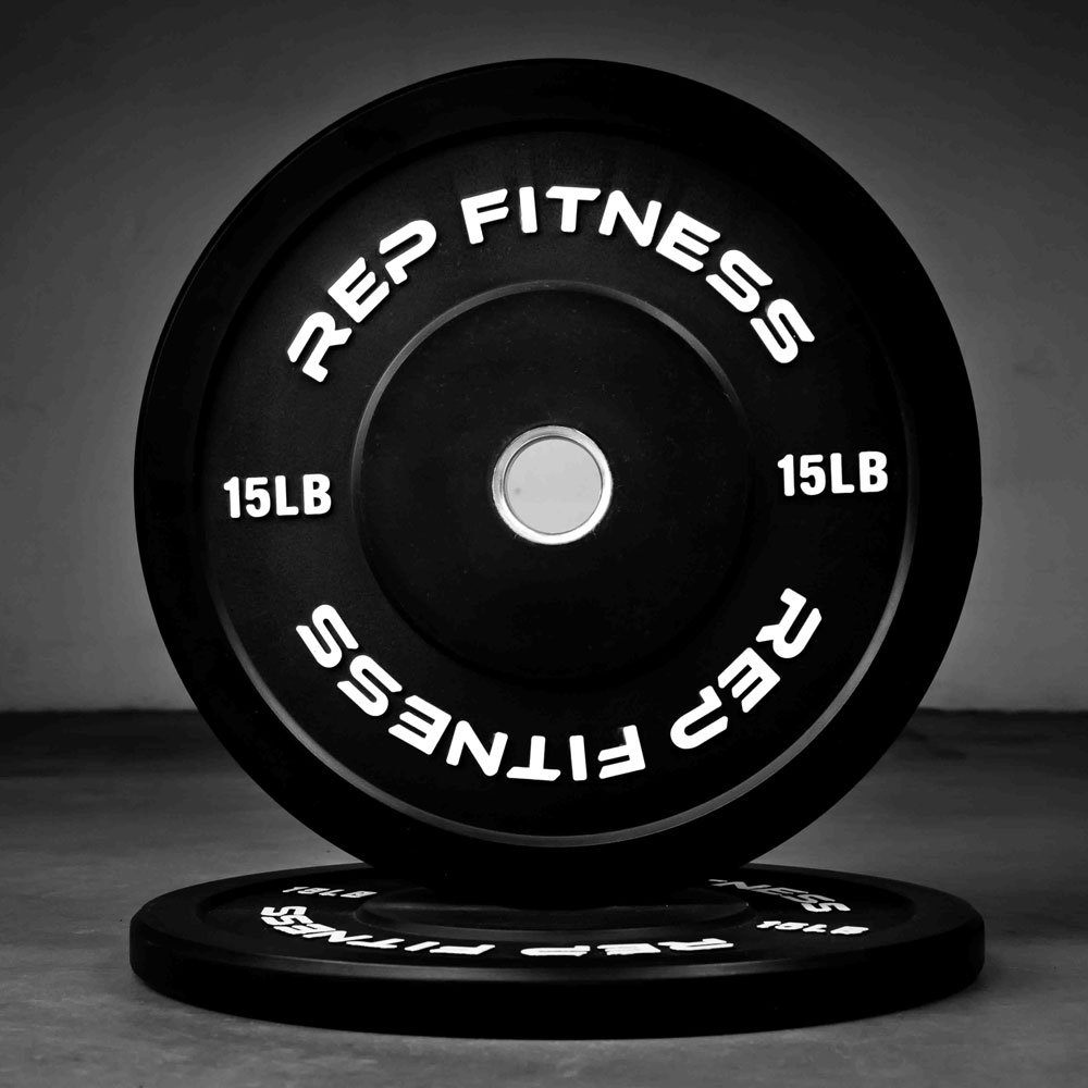 Rep Colored Bumper Plates for Strength and Conditioning Workouts and Weightlifting, 1-3 yr Warranty, No Odor (15.00) by Rep Fitness (Image #2)