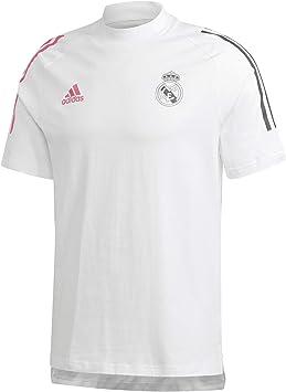 adidas Real Madrid tee 2020-2021, Camiseta, White: Amazon.es: Deportes y aire libre
