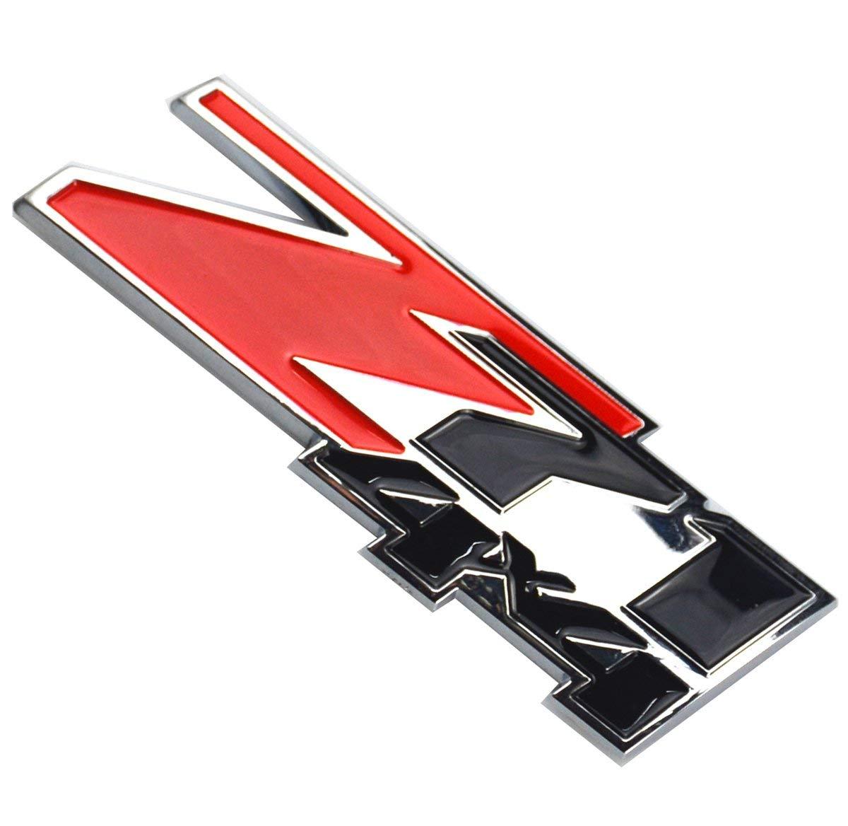 2 Pcs Z71 4x4 Emblems Compatible for GMC Chevy Silverado Sierra Tahoe Suburban 1500hd 2500hd 3500hd Decal Red