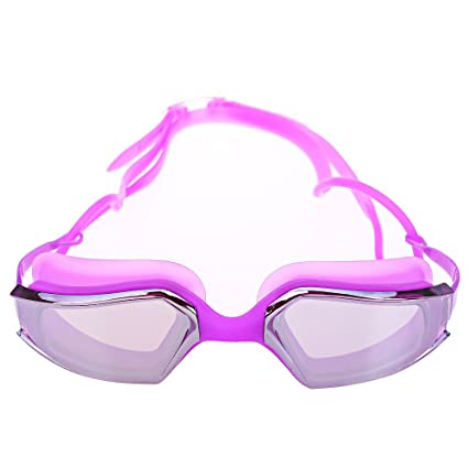 ddee7113320e8 ELEOPTION (TM) UV Protection Swimming Goggles for Adults Fashionable &  Leisure Style (Purple