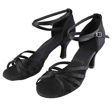 meet outlet online best selling Amazon.com: SolUptanisu Female 7cm-Heeled Fashion Latin Dance ...