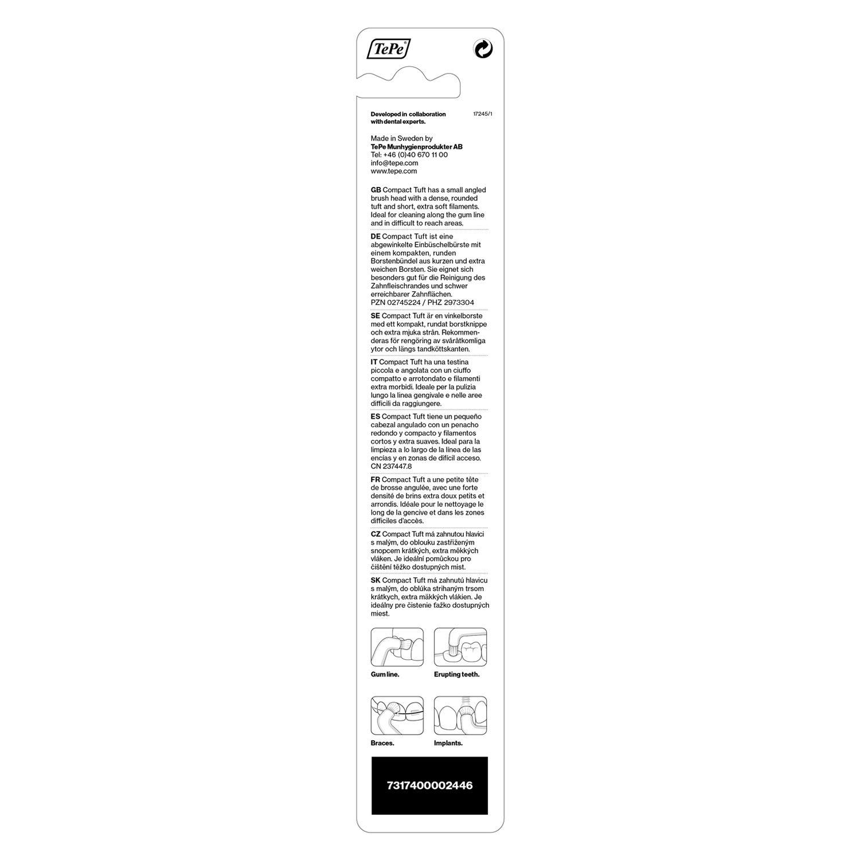 Tepe Compact Tuft Single Tufted Toothbrush - 1 Unidad: Amazon.es: Salud y cuidado personal