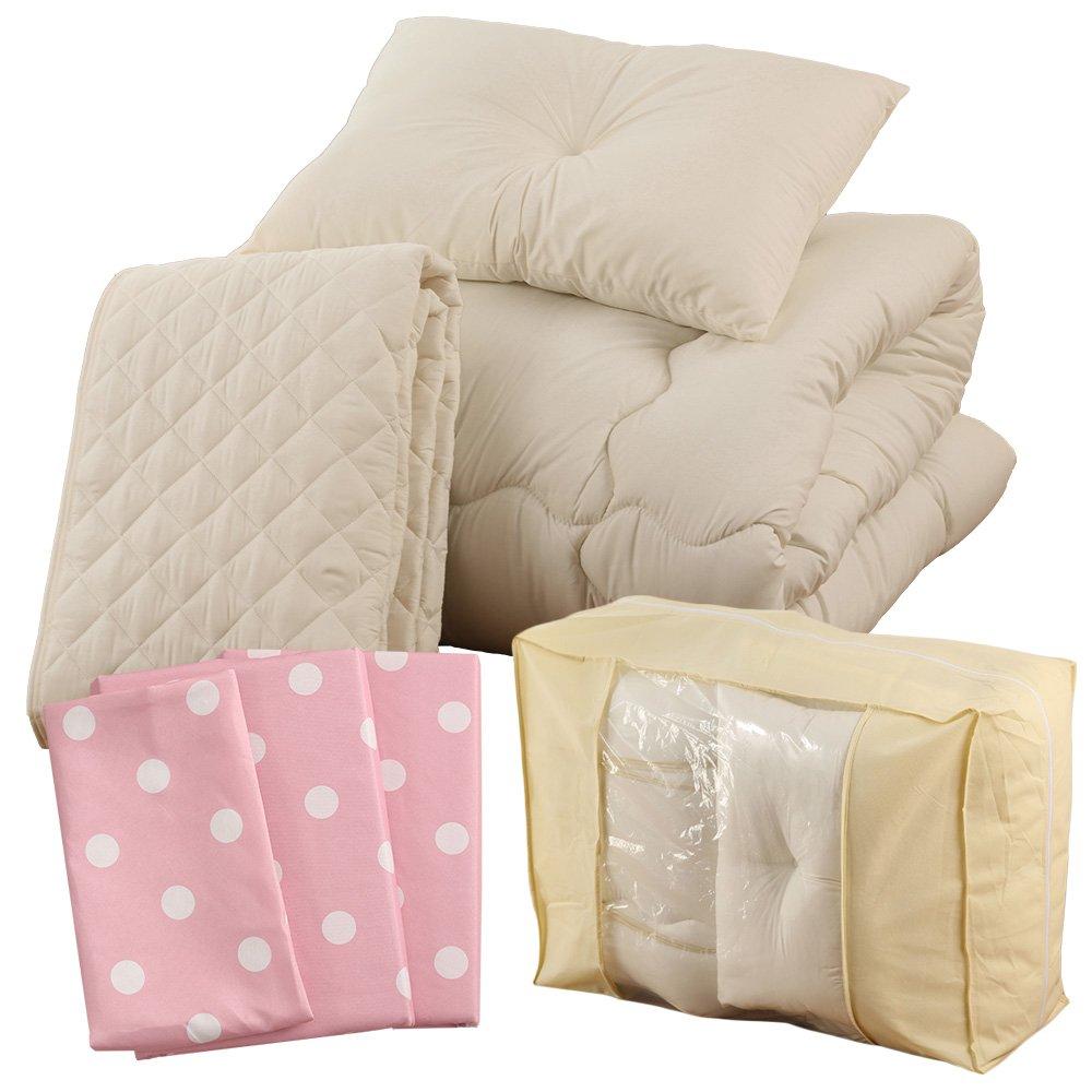 すぐに使える 高品質 ベッド用7点セット シングル ドット柄 アルパインブルー A091-S014SB046BL B01MDTFE2A シングル|ドット柄アルパインブルー ドット柄アルパインブルー シングル