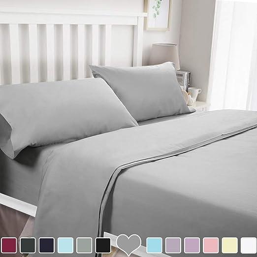 Comfort 1800 Count Soft Brushed Microfiber Bed Sheet Set Wrinkle Bedding 4 Piece