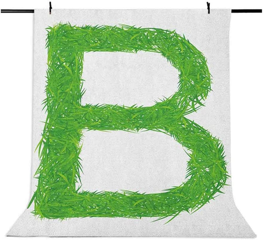 8x12 FT Vinyl Photography Backdrop,Kids Baby Boys Children Capital B Name Fresh Growth Environment Ecology Concept Background for Child Baby Shower Photo Studio Prop Photobooth Photoshoot