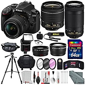 Nikon D3400 and xpix accessories + Deluxe Accessory Bundle