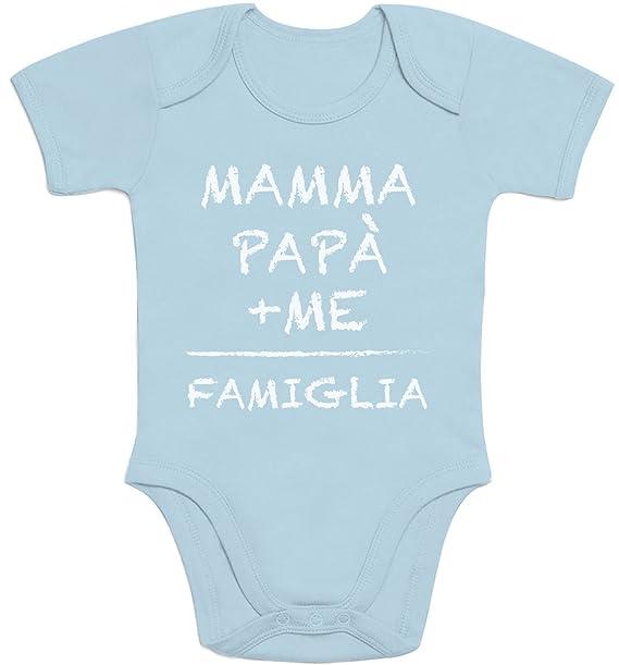 8f3fa29374bc Mamma+papà+Me Famiglia - Idea Regalo per Mamma e papà Body Neonato Manica  Corta  Amazon.it  Abbigliamento