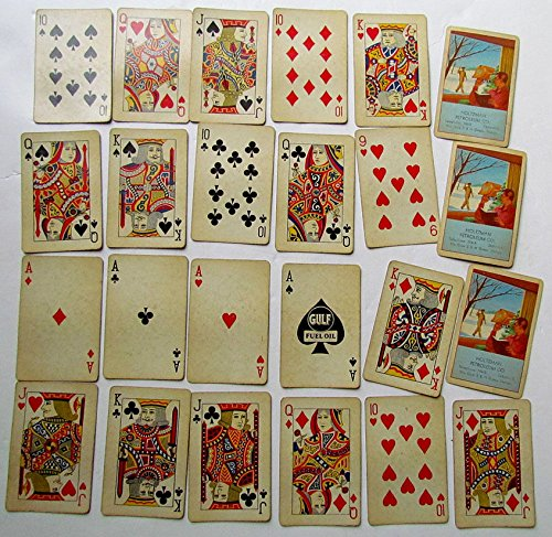 GULF FUEL OIL ADVERTISING VINTAGE PLAYING CARDS DECK HOLTZMAN PETROLEUM COMPANY