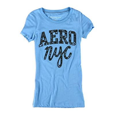 AEROPOSTALE Womens Lacey NYC Embellished T-Shirt: Clothing