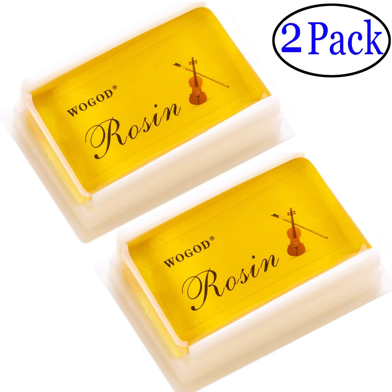 Rosin Violin Rosin Light  Low Dust Rosin  2 Pack  For Bows For Violin Viola And Cello (2Pack Rosin)