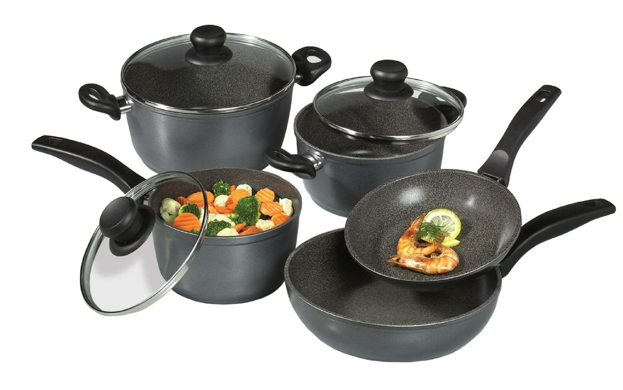 Stoneline Cookware 12 Pc Non Stick Cookware Set