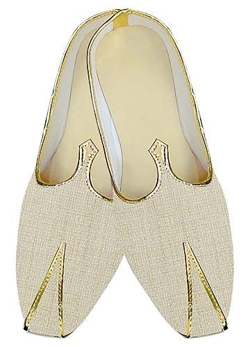 Mens Cream Jute Wedding Mojari Designer MJ014277