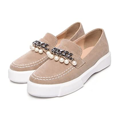 4b5df73e2eae4 Amazon.com   Habitaen 2018 Spring Women Flats Platform Loafers Shoes ...