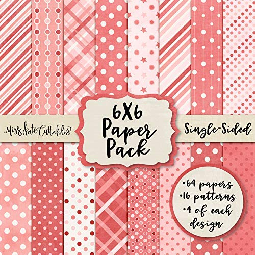 6X6 Pattern Paper Pack - Pink Patterns - Card Making Scrapbook Specialty Paper Single-Sided 6