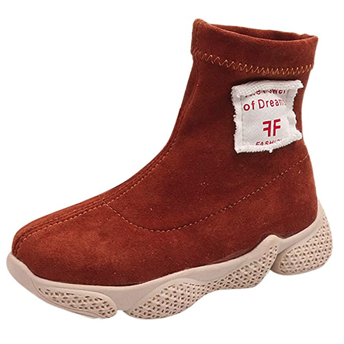 YanHoo Zapatos para niños Niños Grandes y Botas Medias Altas para Ayudar a  Las Zapatillas Deportivas Casuales Carta Imprimir Tobilleras Calientes  Zapatos ... 1f5db1f8204bd