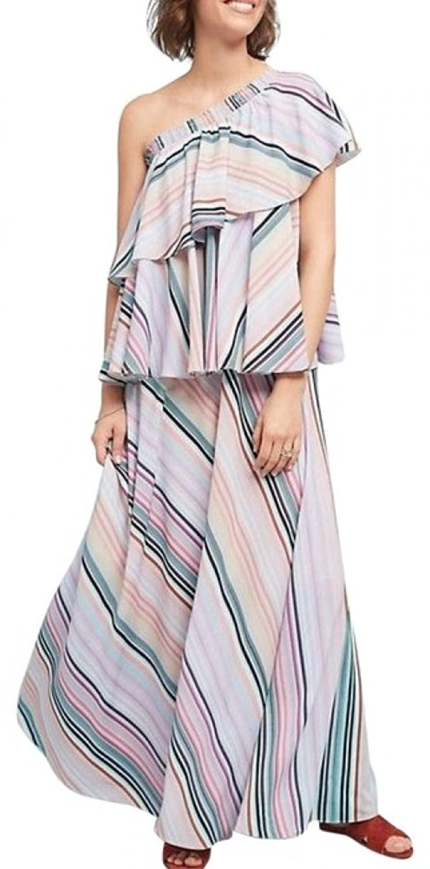 dce02ef8db6a1 Top11: Anthropologie Rainbow Ruffled Maxi Dress by Guapa $258 - NWT
