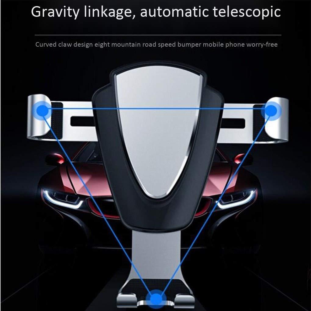 rotazione 360 /° per Xs MAX//XS//XR//X // 8s // 8//7//6 Plus Supporto per telefono veicolare ventosa per il supporto del telefono cellulare supporto per telefono gravitazionale Suzuki Galaxy S9 //