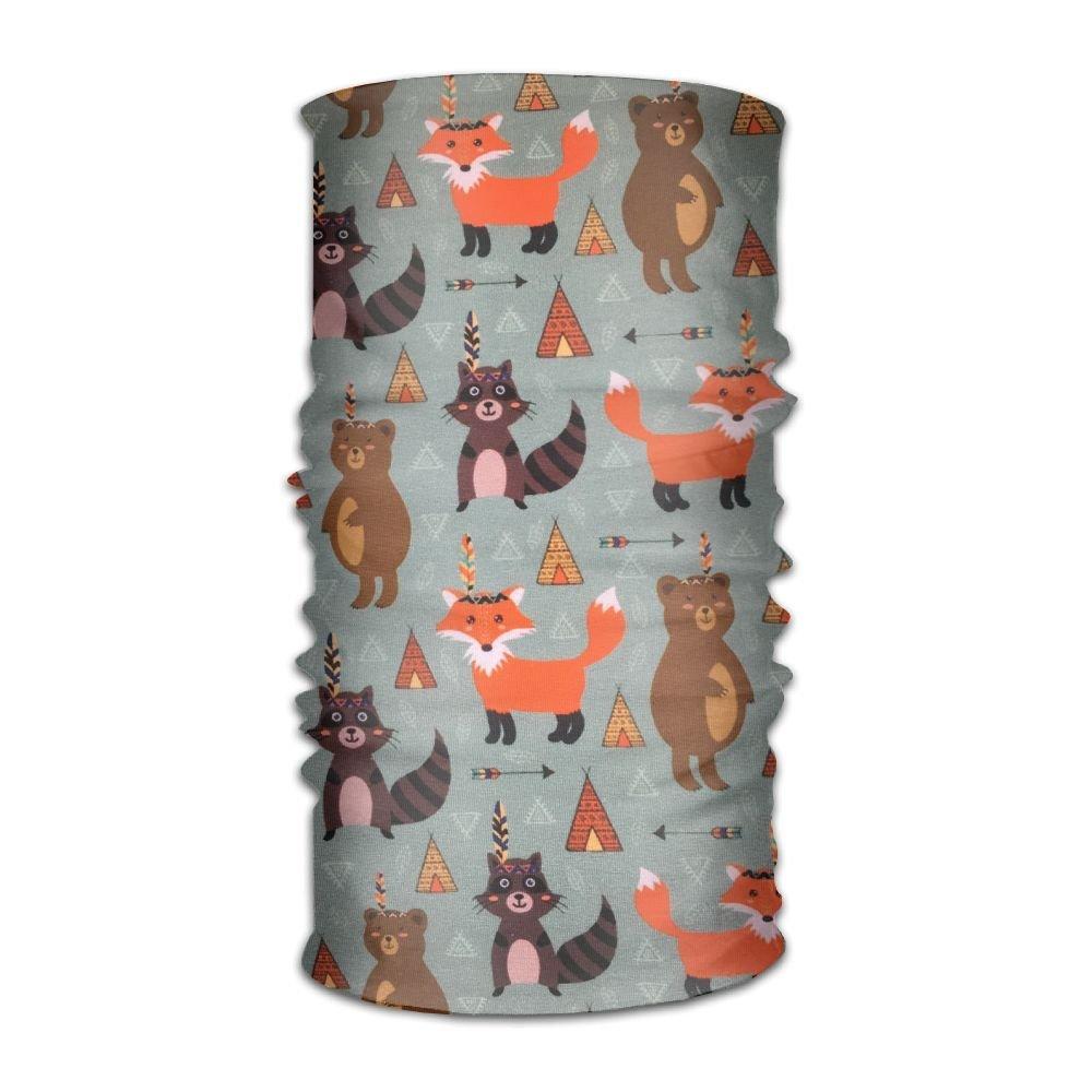 Owen Pullman Multifunctional Headwear Fox Raccoon Head Wrap Elastic Turban Sport Headband Outdoor Sweatband