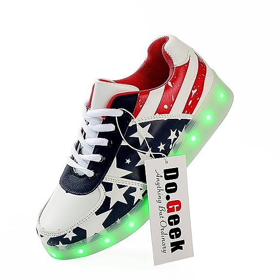 7 opinioni per DoGeek Adulto Unisex Scarpe Led Luminosi Sneakers Con Le Luci Accendono Scarpe