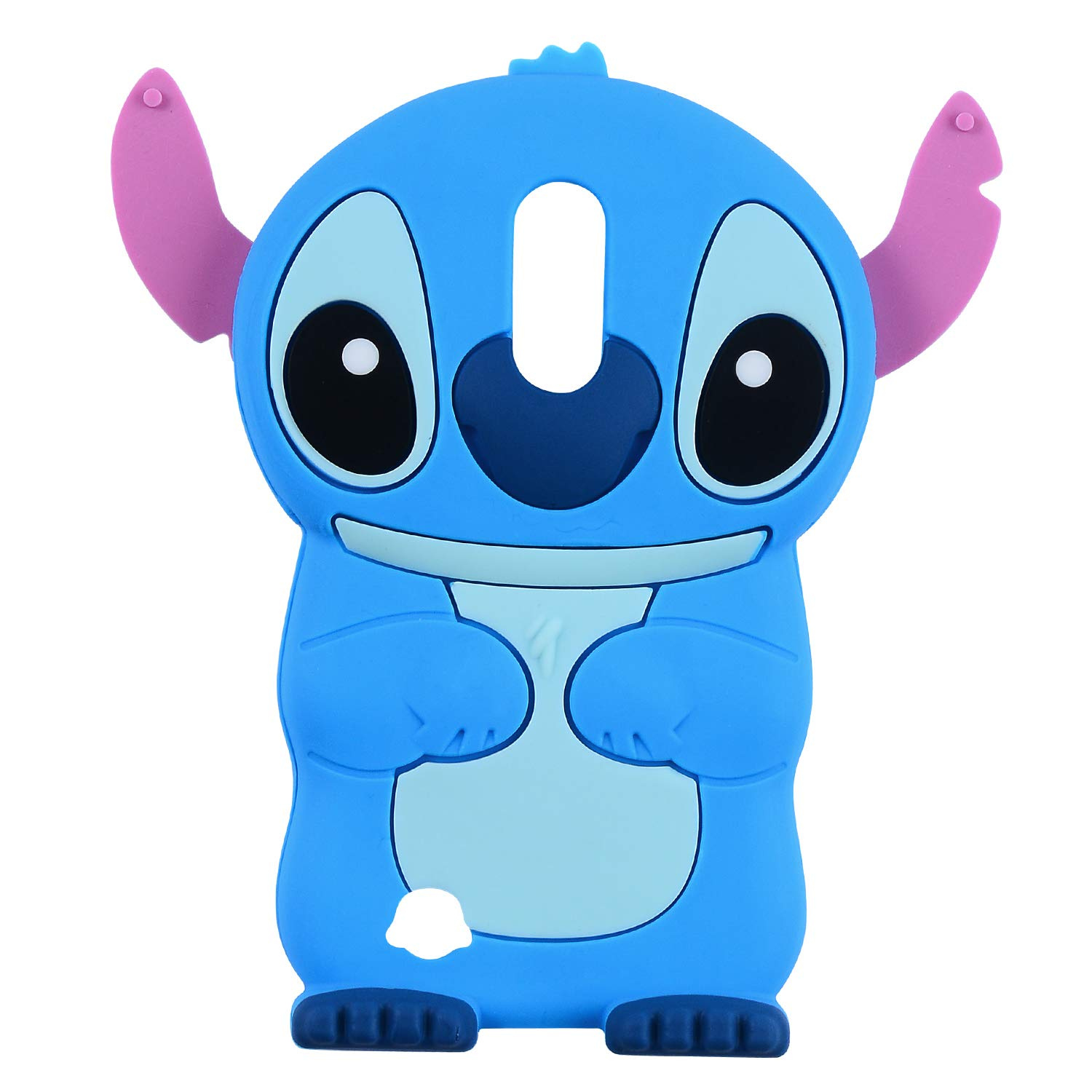 Blue Stitch Case for LG Aristo 2/LG Zone 4/Tribute Dynasty/K8 2018 /Rebel 3 LTE/Fortune 2,3D Cartoon Animal Character Design Cute Soft Silicone Kawaii ...