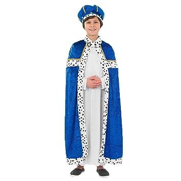 Fun Shack Azul Rey Mago Disfraz para Niños y Niñas - XL: Amazon.es ...