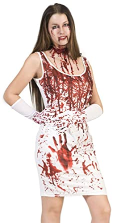 03f07a8e1c5221 Kostüm Kleid Lady Blood Größe 36 38 Damen Halloween Horror Krankenschwester  Blut Handschuhe Karneval Fasching