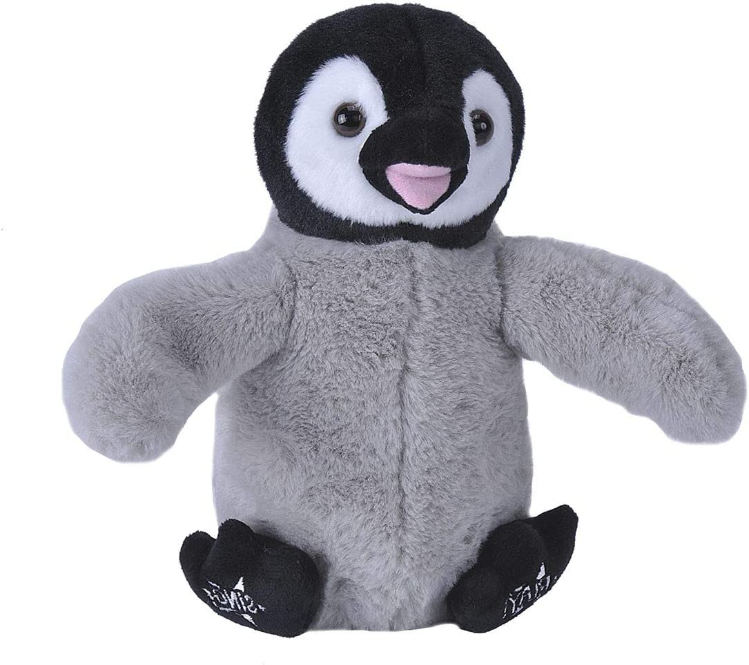 Wild Republic 23640 Happy Penguin Plush Toy, Animated Stuffed Animal That Claps & Sings, Baby Toys & Kids Gifts For All Ages, 10 Inches, Gray/Black
