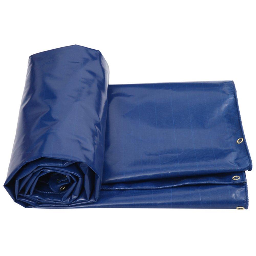 AAA ターポリン日焼け止め屋外サンシェード磨耗抵抗性腐食防止凍結防止効果屋外パティオカバー車のバイクサンバイザーオックスフォード布のターポリンサイズ:2x3m (色 : Blue, サイズ さいず : 3x4m) B07FX43FRZ 3x4m Blue Blue 3x4m