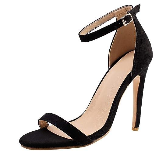 2c1cddd71ed62 Amazon.com: Claystyle Women's Stiletto High Heel Ankle Strap Dress ...