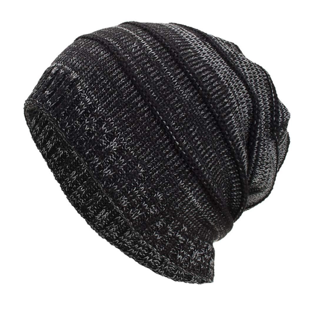 Amazon.com  SUKEQ Unisex Women Men Slouchy Baggy Beanie Hats Winter Warm  Knit Crochet Skull Ski Cap Beret (Black)  Home   Kitchen ec375a3c9215
