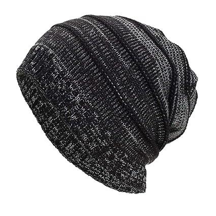 0da76dedc7627 Image Unavailable. Image not available for. Color  SUKEQ Unisex Women Men  Slouchy Baggy Beanie Hats Winter Warm Knit Crochet Skull Ski ...