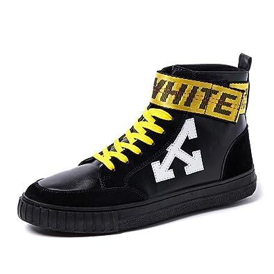 Chaussures de Sport Plates pour Hommes Mocassins Décontractés Multicolore Lace Up Closed High Top Outsole,Chaussures de Cricket (Color : Black, Size : 39 EU)