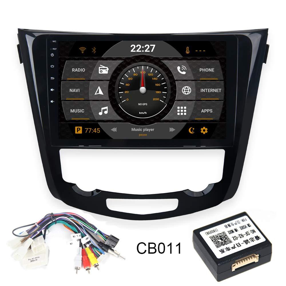 Carplay FM//AM USB Controllo del Volante Mirrorlink Dasaita 10.2 Autoradio 1 Din Android 9.0 per Nissan X-Trail Qashqai j11 Rouge 2014 2015 2016 2017 Stereo Auto Bluetooth Supporto GPS Wi-Fi DAB